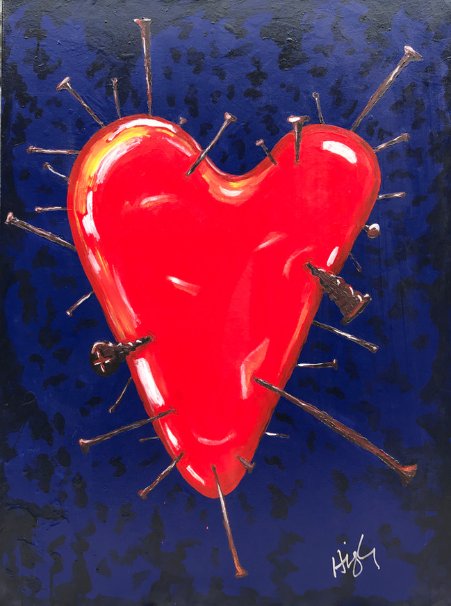 Stabbed in the heart 24x36