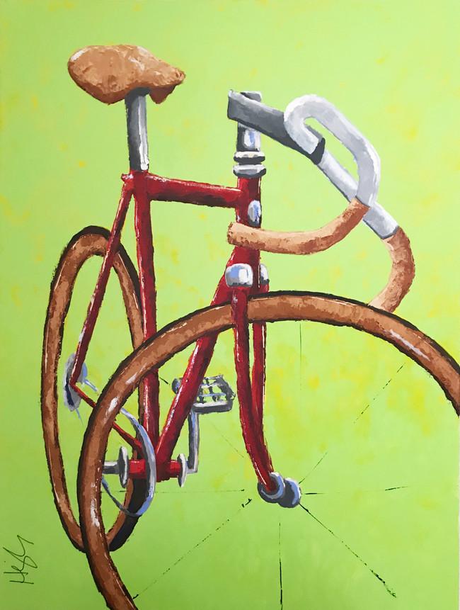 bike on green 36x48