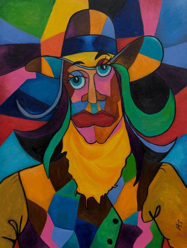 Cubist Cowgirl