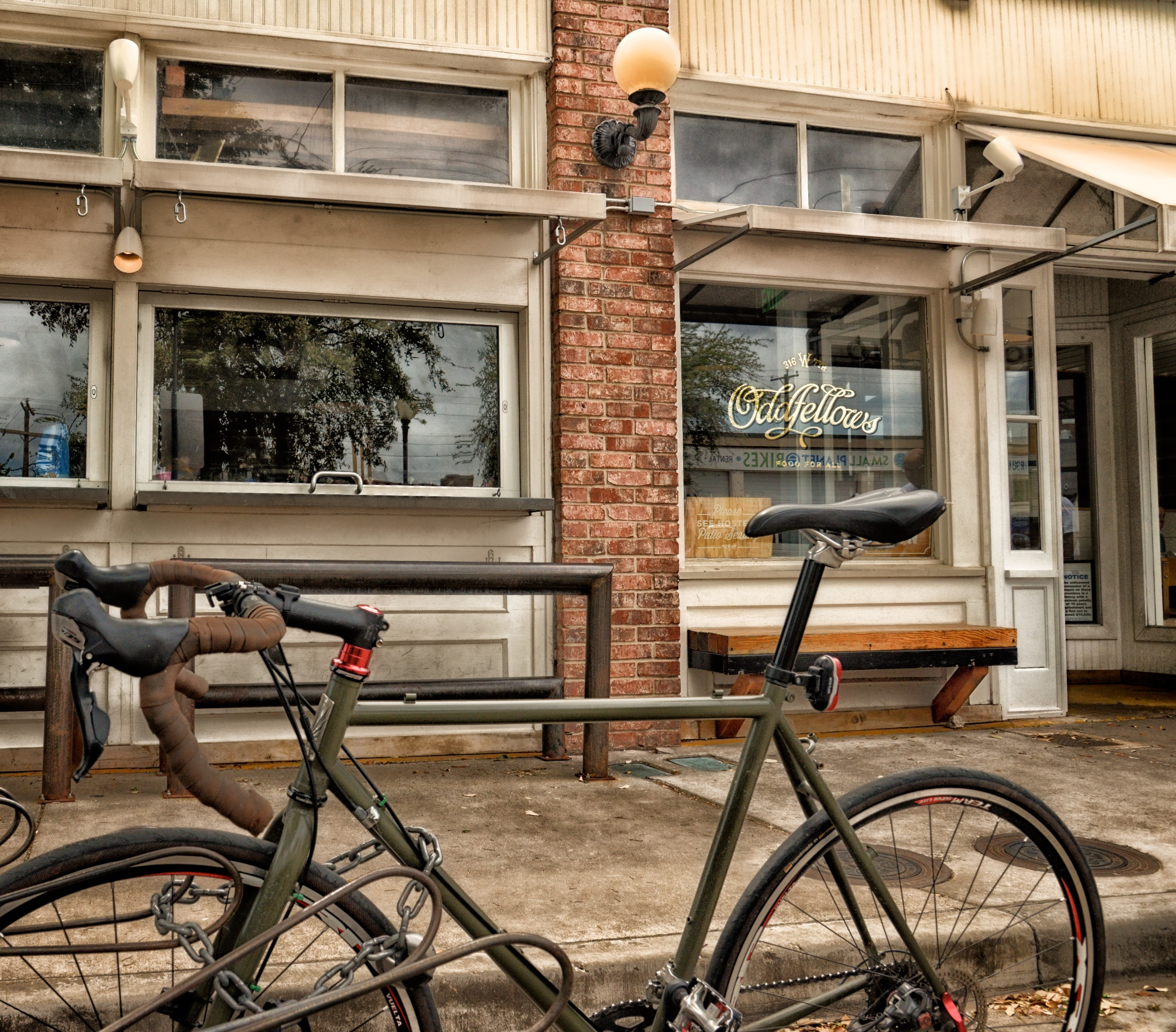 Road bike at Oddfellows
