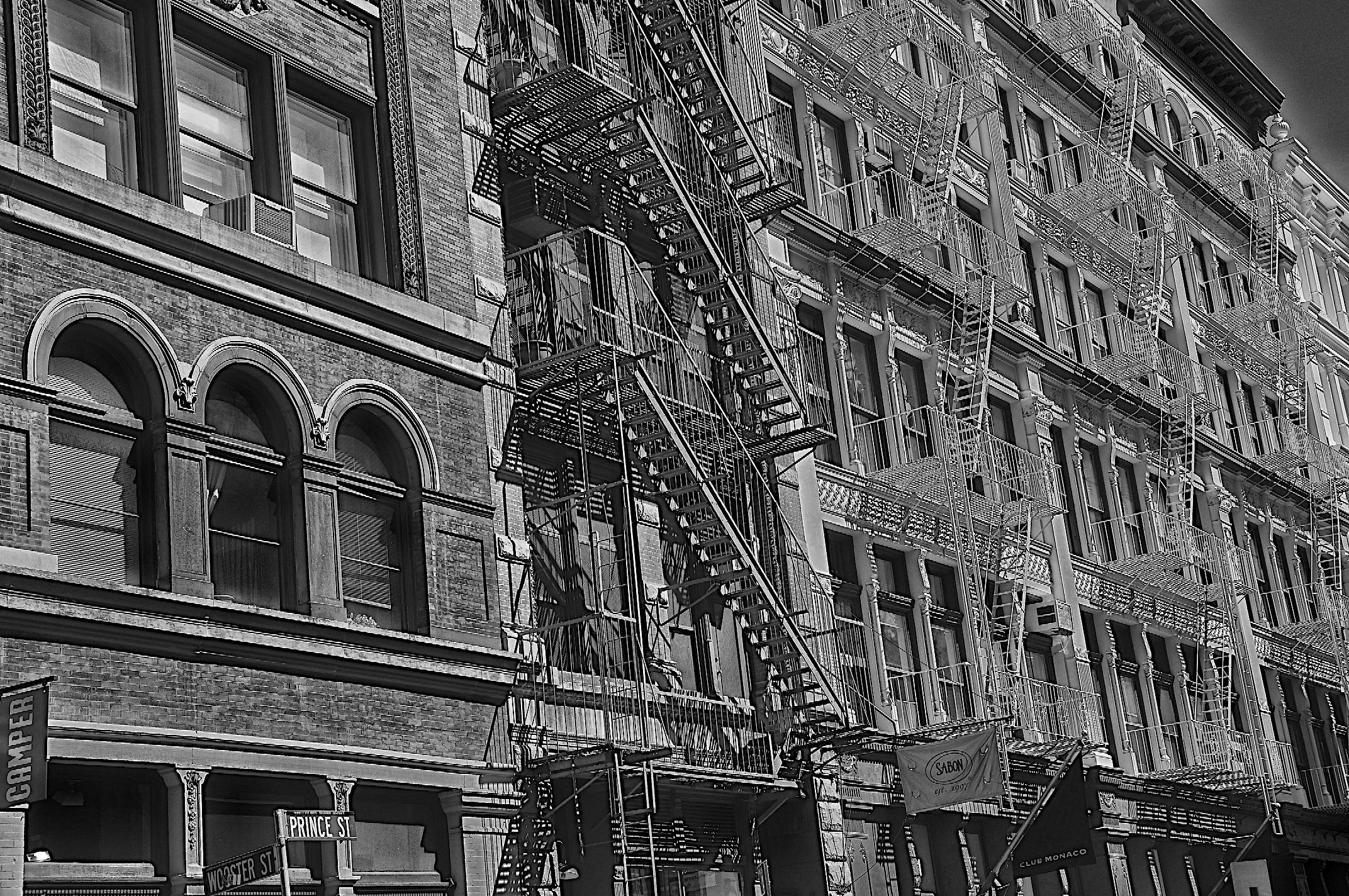 Soho fire escape