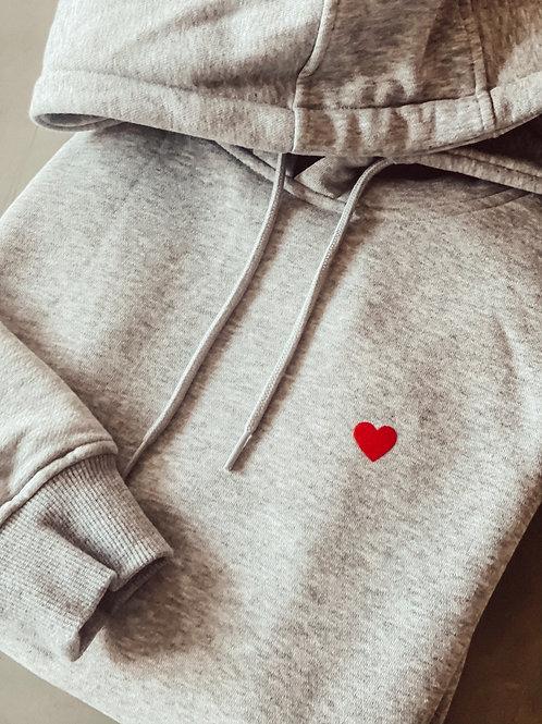 Gossengold Hoodie Heart Grau Melange