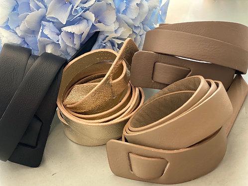 Taillengürtel Leder verschiedene Farben