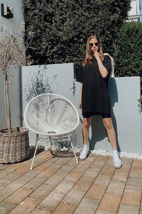 Rockamora Longshirt  Kleid Amy Black washed