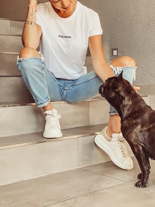 "Gossengold T-Shirt ""Dog Mom"" weiß"
