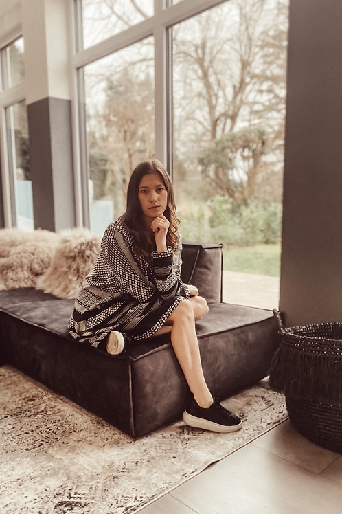 Cecilie Copenhagen Kleid Black/Grey