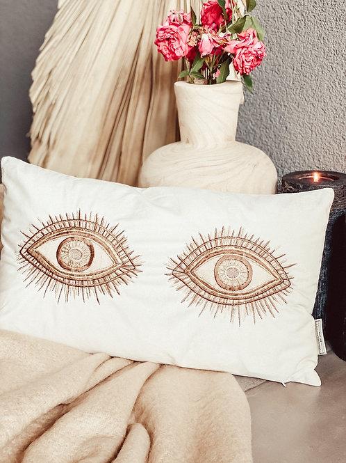 Kissen / Samtkissen wachendes Auge