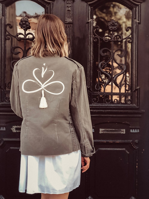 """Vintage Military Jacket """"Zeichen der Ewigkeit"""""""