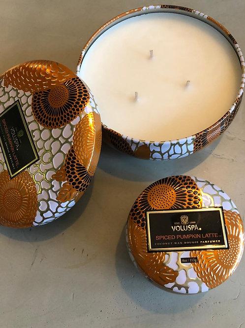 Voluspa Duftkerze Spiced Pumpkin Latte Groß