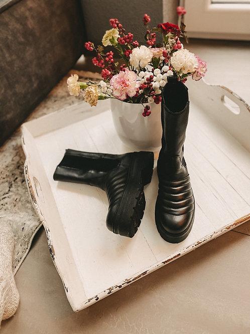 Pavement Boots Flora schwarz
