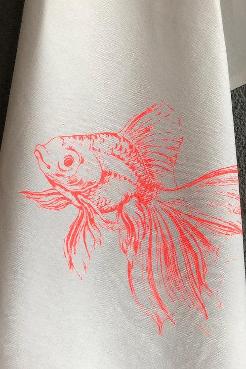 17;30 Geschirrtuch Goldfisch