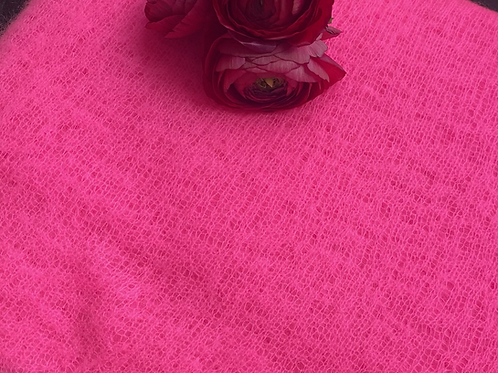 Pur Schoen Kaschmirschal Neon Pink