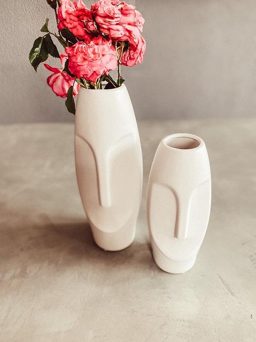 Kopf Vase / Gesicht Vase Oval