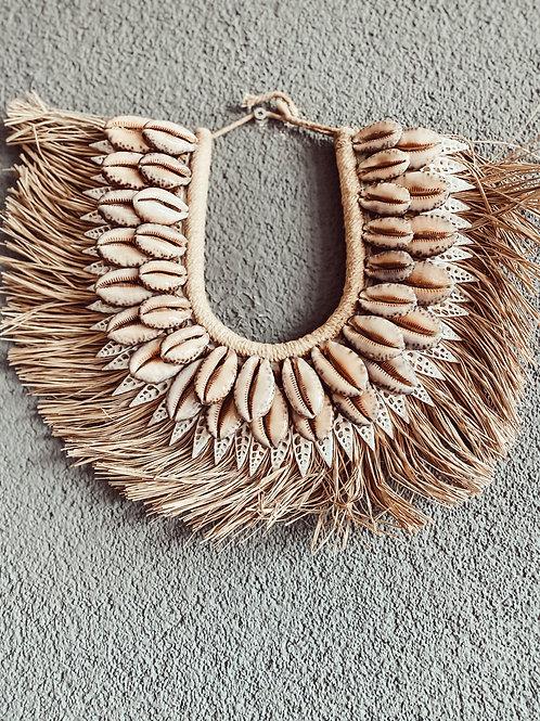 Tribal  Dekoobjekt Muschel mit Seegras