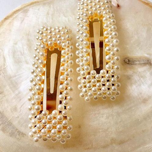 Haarspange mit Perlen