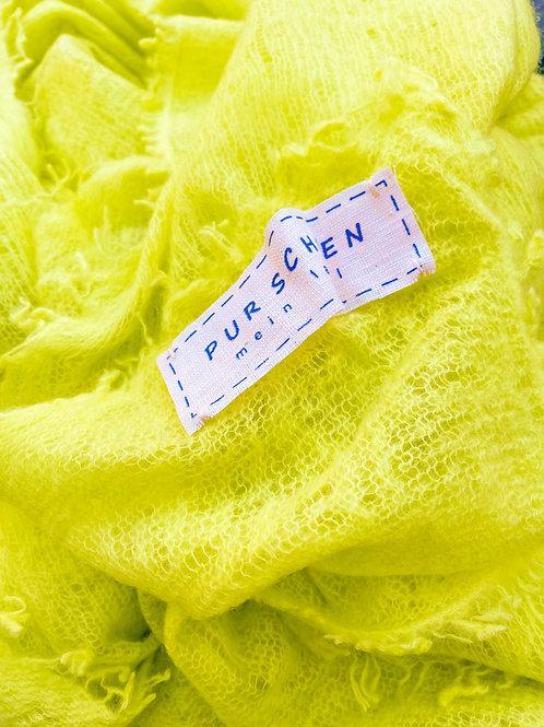 Pur Schoen Kaschmirschal Neon Gelb