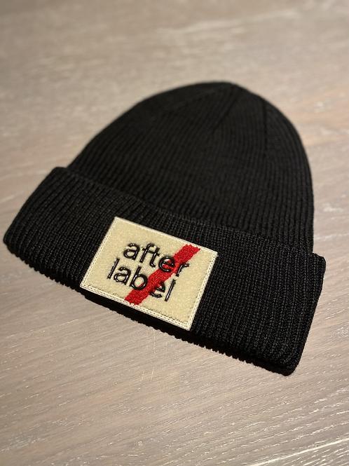 After Label Mütze schwarz