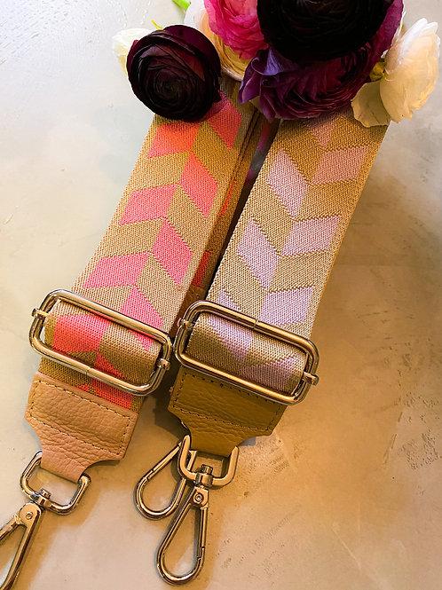 Schultergurt rosa+flieder