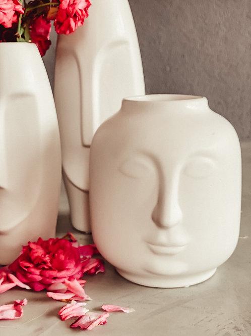 Kopf Vase /  Gesicht Vase Rund