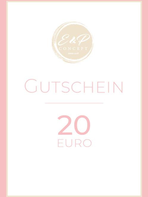 """Gutschein """"20€"""""""