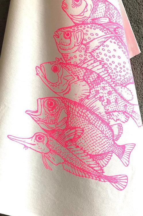 17;30 Geschirrtuch Fische