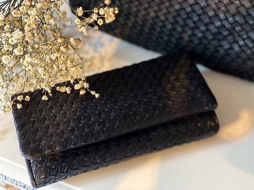 Portemonnaie schwarz +braun