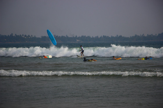 Learning to Surf in Sri Lanka