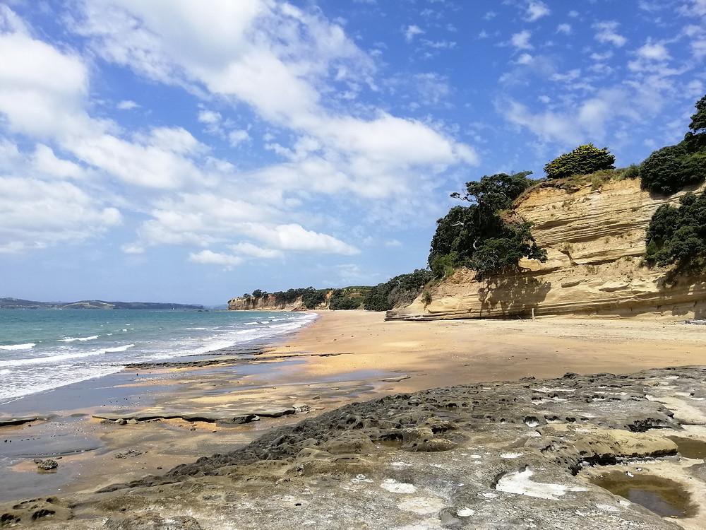 Cliffs on Ocean Beach, Motuihe Island