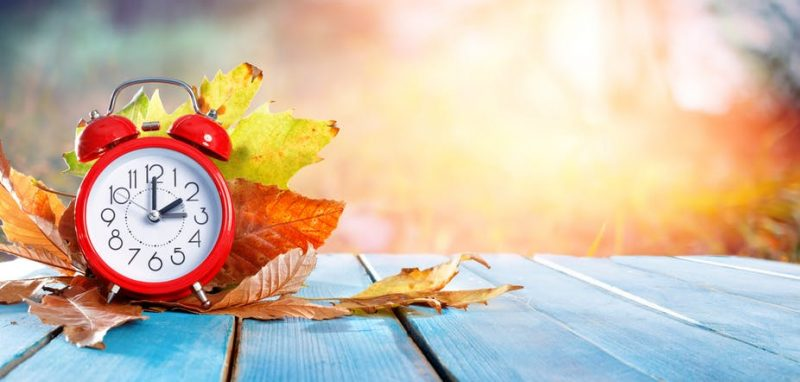 November 1st – Daylight Savings Ends