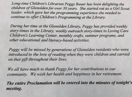 Farewell to Peggy Bauer and Good Luck in Retirement