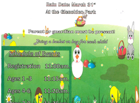 Glenolden Borough Easter Egg Hunt on March 24