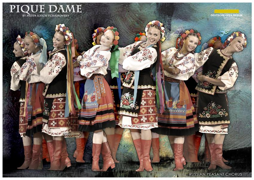 PIQUE DAME_Costume_RUSSIAN PEASANT CHORU