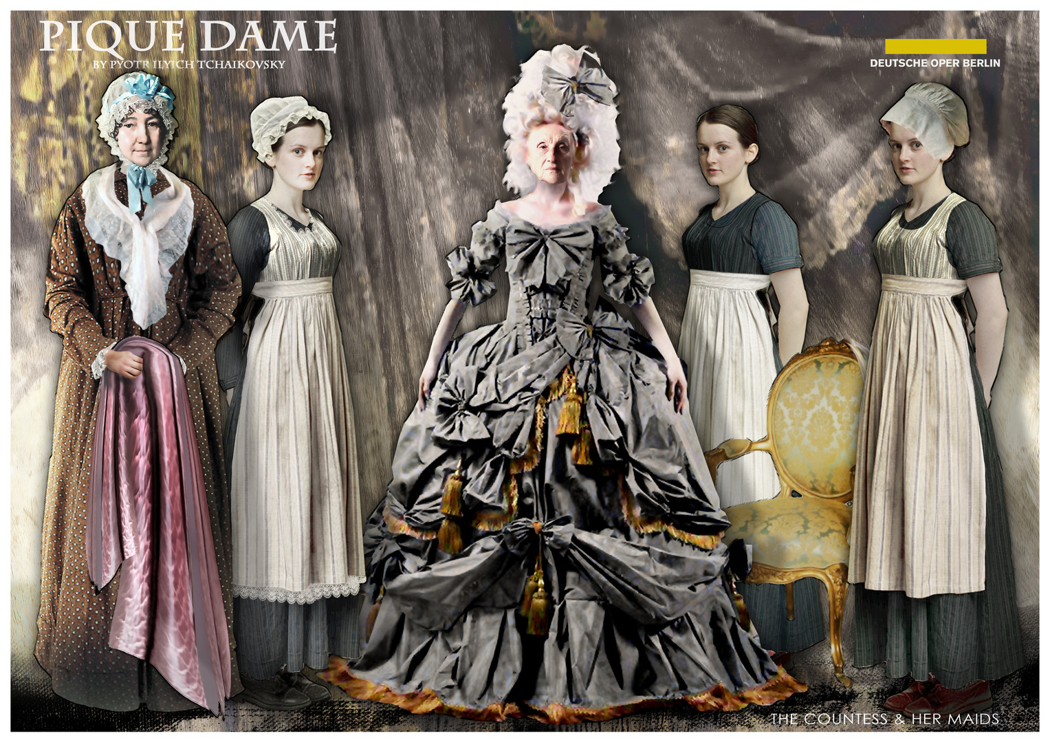 PIQUE DAME_Costume_THE COUNTESS & HER MA
