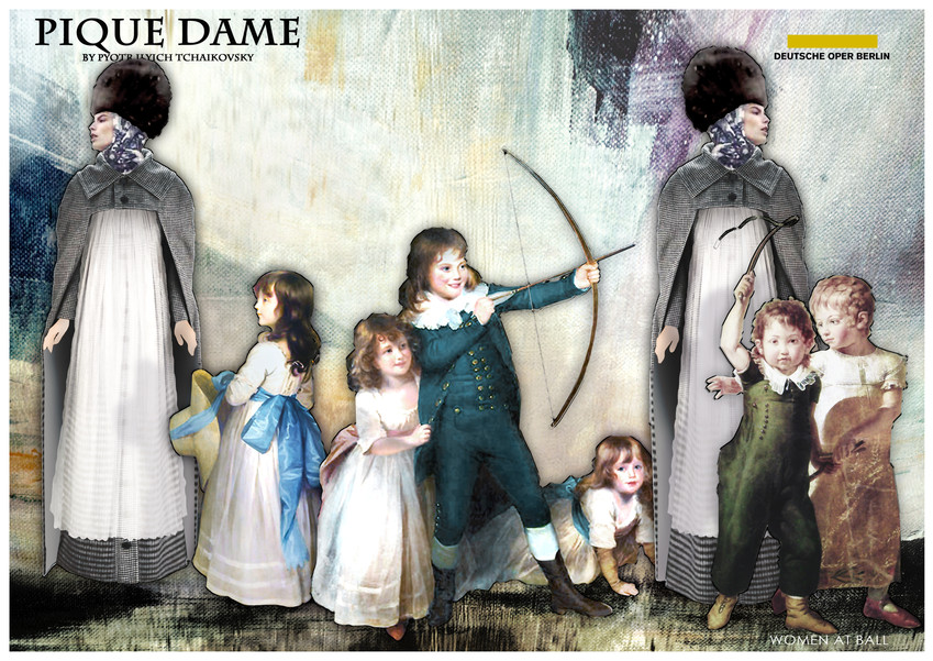 PIQUE DAME_Costume_GOVERNESSES AND CHILD