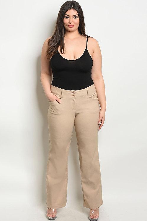 Tan Plus Size Pants