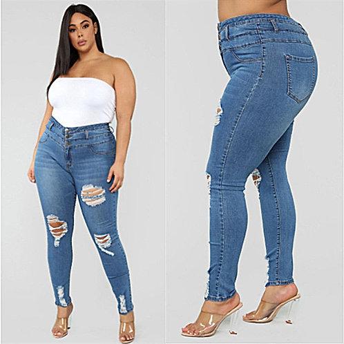 Ripped Jeans High Waist