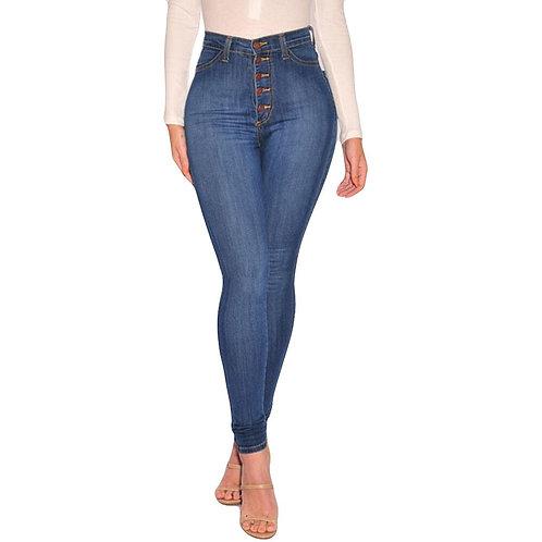 Slim Elastic Plus Size Stretch Jeans