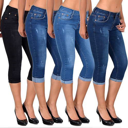 High Elastic Plus Size Stretch Jeans