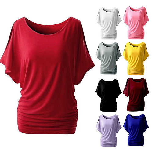 Casual Batwing Short Sleeve