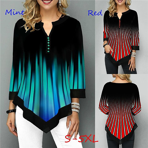 Silk Tops Seven Points Sleeve Shirts