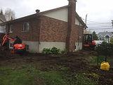 Mini-excavation, drain-français, espace restreint