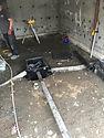 pyrite,plancher de garage, drain francais,