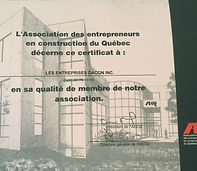 Association des entrepreneurs en constrcton du quebec