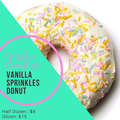 Vanilla Sprinkle Donuts
