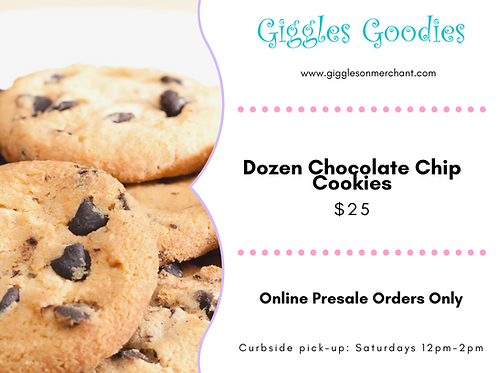 Chocolate Chip Cookies-Dozen