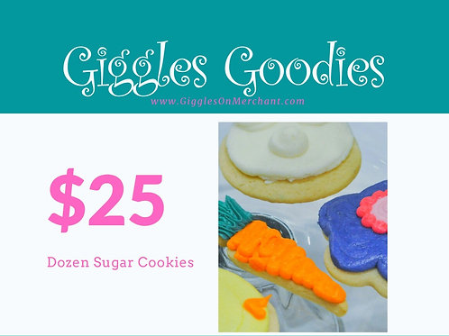 Assorted Sugar Cookies-Dozen