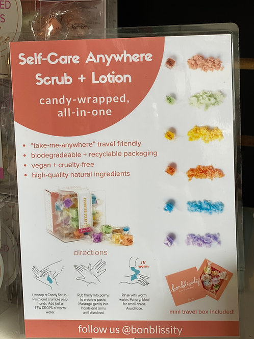 Individual candy scrubs, assorted scents