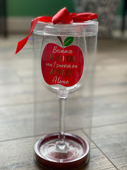 Teachers Wine Glass