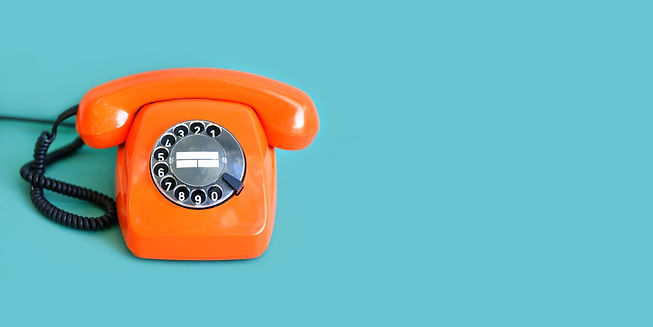 retro-phone-orange-color-vintage-handset