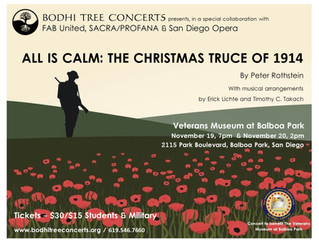 ALL IS CALM, The Christmas Truce of 1914 - A San Diego Premiere